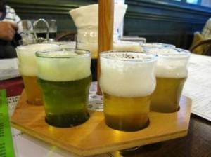 πράσινη μπύρα